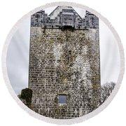 Claregalway Castle - Ireland Round Beach Towel