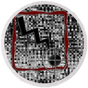 Clarity Digital Painting Round Beach Towel
