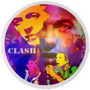 Clash Know Your Rights Round Beach Towel