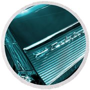 Classic '57 Teal And Chrome Round Beach Towel