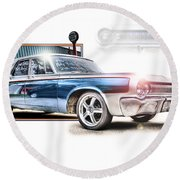 Classic '64 Dodge Oakland County Mi Round Beach Towel