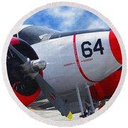 Classic Aircraft Round Beach Towel