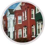 Classic American Architecture In Washington Dc Round Beach Towel