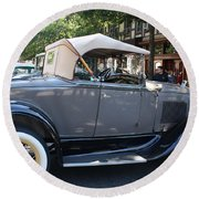 Classic Antique Car - Ford 1920s Round Beach Towel