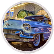 Classic Blue Caddy At Night Round Beach Towel