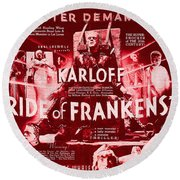 Classic Bride Of Frankenstein Poster Round Beach Towel