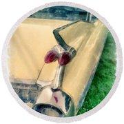 Classic Caddy Fins Round Beach Towel
