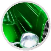 Classic Cars Beauty By Design 2 Round Beach Towel