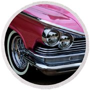Classic Car Collection Round Beach Towel