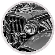 Classic Car Detail Round Beach Towel