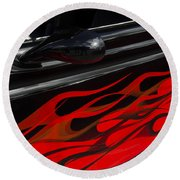 Classic Cars Beauty By Design 12 Round Beach Towel