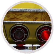 Classic Cars Beauty By Design 14 Round Beach Towel