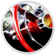 Classic Cars Beauty By Design 4 Round Beach Towel