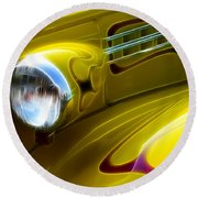 Classic Cars Beauty By Design 5 Round Beach Towel