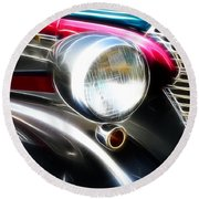 Classic Cars Beauty By Design 7 Round Beach Towel