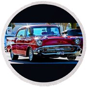 Classic Chevrolet Round Beach Towel