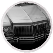 Classic Chevy Caprice  Round Beach Towel