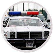 Classic Cop Car Round Beach Towel