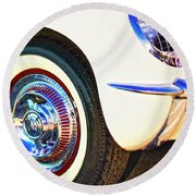 Classic Corvette Palm Springs Round Beach Towel