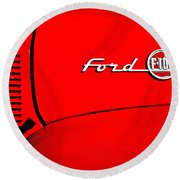 Classic Ford F100 Round Beach Towel