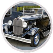 Classic Ford Round Beach Towel