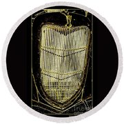 Classic Gold Grill Round Beach Towel