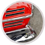 Classic Impala In Red Round Beach Towel