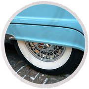 Classic Lines Of 1956 Round Beach Towel