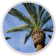 Classic Palms Round Beach Towel