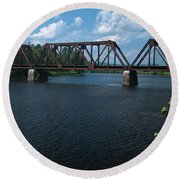 Classic Rail Bridge Round Beach Towel