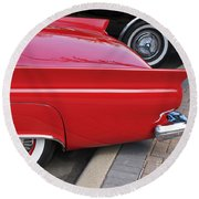Classic Red And Black Round Beach Towel