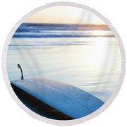 Classic Single-fin Long Board Surfboard Round Beach Towel