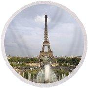 Classic View Of Paris Round Beach Towel