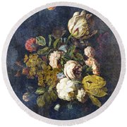 Classical Bouquet - S0104t Round Beach Towel
