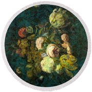 Classical Bouquet - S04bt01 Round Beach Towel by Variance Collections