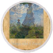 Claude Monet 1 Round Beach Towel