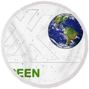 Clean Energy Round Beach Towel