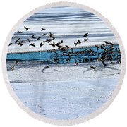 Cleared To Land Round Beach Towel
