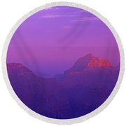 Clearing Storm From North Rim Grand Canyon National Park Round Beach Towel