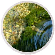 Clearwater Falls Series 11 Round Beach Towel
