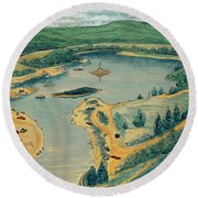 Clearwater Lake Early Days Round Beach Towel