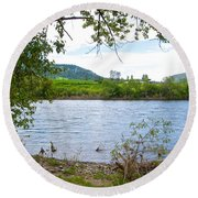 Clearwater River In Nez Perce National Historical Park-id  Round Beach Towel