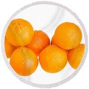 Clementine Oranges Round Beach Towel
