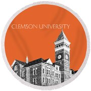 Clemson University - Coral Round Beach Towel