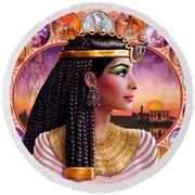 Cleopatra Variant 3 Round Beach Towel