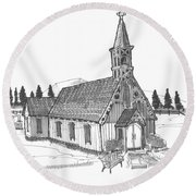 Clermont Chapel Round Beach Towel