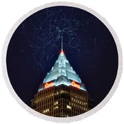 Cleveland Electrified Round Beach Towel