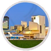 Cleveland Icons Round Beach Towel