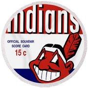 Cleveland Indians 1957 Scorecard Round Beach Towel