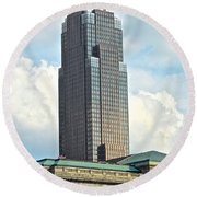 Cleveland Key Bank Building Round Beach Towel by Frozen in Time Fine Art Photography